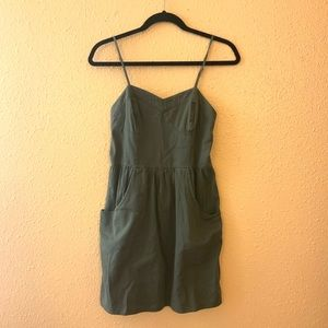 Olive Sweetheart Dress